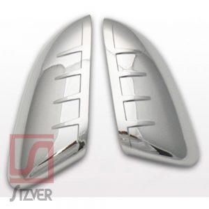 Sizver Chrome Top Half Door Mirror cover For 2016-2018 Honda Civic